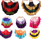 Mix Color Satin 6 - 12 - 25 Yard Tiered Gypsy Skirt Belly Dance Ruffle Flamenco