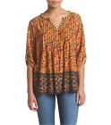 VINTAGE AMERICA BLUES® M, L, XL Jolita Peasant Top NWT $60