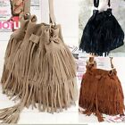 Fashion Women Faux Suede Fringe Tassel Shoulder Messenger Bags Crossbody Bag