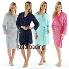 WOMENS LADIES DRESSING GOWN SUMMER  COTTON  LIGHTWEIGHT GOWNS  HOLIDAY ROBE