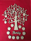 Wooden MDF Apple Tree Shape Blank,Family Tree,Wedding,Guestbook,Craft,10 Apples