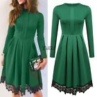 Boho Women Vintage Bodycon Lace Pleated Ladies Evening Party Cocktail Mini Dress