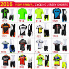 2016 Cycling Bike Short Sleeve Clothing Bicycle Men Suit Jersey + Bib Shorts