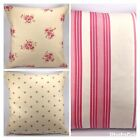"Clarke and Clarke Tilly Floral Lulu Stripe Dotty Chintz 16"" Cushion Cover"