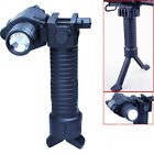 Tactical Rifle Foldable Foregrip Bipod + Red Laser Sight&CREE LED Flashlight 42