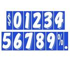 7 1/2 Inch White On Blue Adhesive Number  (multiple item shipping discount)