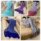 8 Color Blankets & Throws Crocheted Mermaid Cocoon Blanket With Sparket Scales