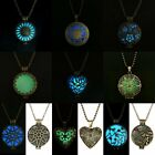 Fashion Jewelry Glow in the Dark Necklace Pendant Stainless Steel Charm Chain