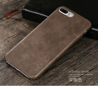 Luxury Simple Vintage Classic HQ Soft Leather Comfort Back Case Cover For iPhone