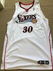 Philadelphia 76ers Authentic Game used signed player Jersey 30 Reggie Evans