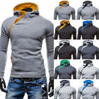 hot new men's lace hooded fashion hit the color zipper closure sweater coat