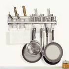 Aluminum Wall Hanging Multifunctional Kitchen Shelves Spice Rack Hooks Organizer