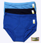 6 MENS pure 100% cotton  interlock cotton y- fronts BLUE  M,L,XL,XXL