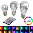 E27 15W 10W 5RGB LED Light Color Changing Lamp Bulb 85V-265V + Remote Control