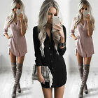 Fashion Women Summer Long Sleeve Casual Blouse Loose Chiffon Tops T-shirt Dress