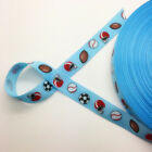 "100yds/1roll 3/4"" 20mm Wide Printed Grosgrain Ribbon Hair Bow DIY Sewing U Pick"