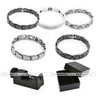 Stainless Steel Bracelet Magnetic Energy Therapy Bangle + Adjuster Tool + Box