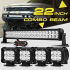"22"" 280W CREE LED WORK LIGHT BAR +4"" 18W SPOT&FLOOD COMBO 4X4WD FOR JEEP FORD"