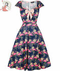 LADY VINTAGE ISABELLA FLAMINGO 50s vintage style DRESS