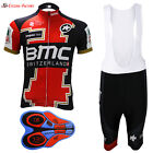 2017 New Cycling Jersey BMC white bib shorts Team Men's Bicycle Short Sleeve
