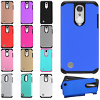For LG Aristo HARD Astronoot Hybrid Rubber Silicone Case Cover +Screen Protector