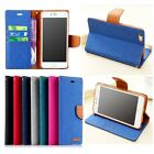 Flip Canvas PU Leather Wallet Stand Card Slot Book Case Cover for Newest Phones