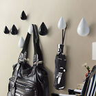 NEw Fashion Resin Water Drop Shape Hook Living Room Wall Hanging Hook Home Decor