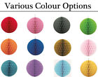 Decorative Honeycomb Ball Hanging Tissue Decorations - Choice of Colours