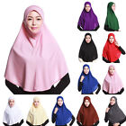 New Muslim Islamic Women Lady Plain Long Down Head kerchief Headscarf Cap Bonnet