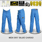 Men Motorbike Cargo Trousers Pants Reinforced with Yellow Protective fiber