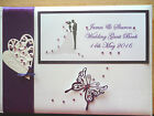 Personalised  Guest Book any event etc Decorated White/Ivory