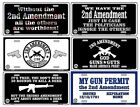 2nd Second Amendment Metal License Plate Novelty Gun Prepper Bar Wall Sign SB#LP