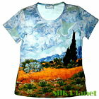 VINCENT VAN GOGH Wheatfield Cypress PAINTING T SHIRT TOP FINE ART PRINT FASHION