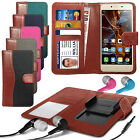 For BLU Energy X LTE - Fabric Mix Clip Wallet Case & Earphone