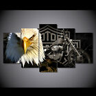 HOT 5 PCS Eagles & Motorcycle Painting Canvas Wall Art Picture Home Décor Living