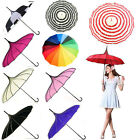 Creative Vintage Pagoda Parasol Bridal Wedding Party Sun Rain UV Rain Umbrella