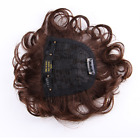 """100% human hair replacement Machine Made Curly top piece wiglet clip in/on 6"""""""