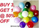 30 -100 Latex LARGE Helium Air Quality Party Birthday Wedding Balloons baloons