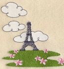 Whimsical Eiffel Tower Towels ~Embroidered Hand Bath & Towel Sets~ Paris France