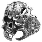 Ghost Skull Bones Skeleton Stainless Steel Punk Biker Unisex Halloween Ring 1Pc