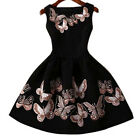 Lady Summer Mini Dress Vintage Sleeveless Dress for Evening Cocktail Prom Party