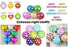 GOLD PINK BLUE SILVER HAPPY BIRTHDAY BALLOON BANNER BUNTING PARTY DECORATION