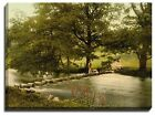Canvas Print Of ambleside, stepping stones, lake district