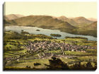 Canvas Print Of derwentwater and keswick, lake district
