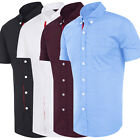 Mens Summer Slim Fit Button Short Sleeve Shirt Casual Work Smart Tops S/M/L/XL
