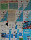 ENGLAND v FRANCE RUGBY PROGRAMMES 1947-1988 MOST YEARS AVAILABLE GOOD+ CONDITION