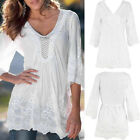 Fashion Women Ladies Lace Long Sleeve Shirt Top Summer Casual T-Shirt Blouse New