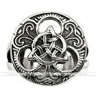 Punk Men's surgical Gothic Stainlsee Steel Celtic Knot Magic Finger Ring US9-13