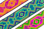 "01Yd Jacquard Trim 1.60"" (4.06 CM)Wide Woven Border Ribbon Sew Embroidered T166"