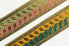"01Yd Jacquard Trim 1.57"" (04 CM)Wide Woven Border Ribbon Sew Embroidered T169"